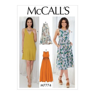 McCall's Pattern M7774 Misses' Dresses