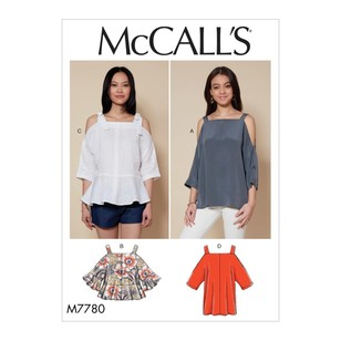 McCall's Pattern M7780 Misses' Tops