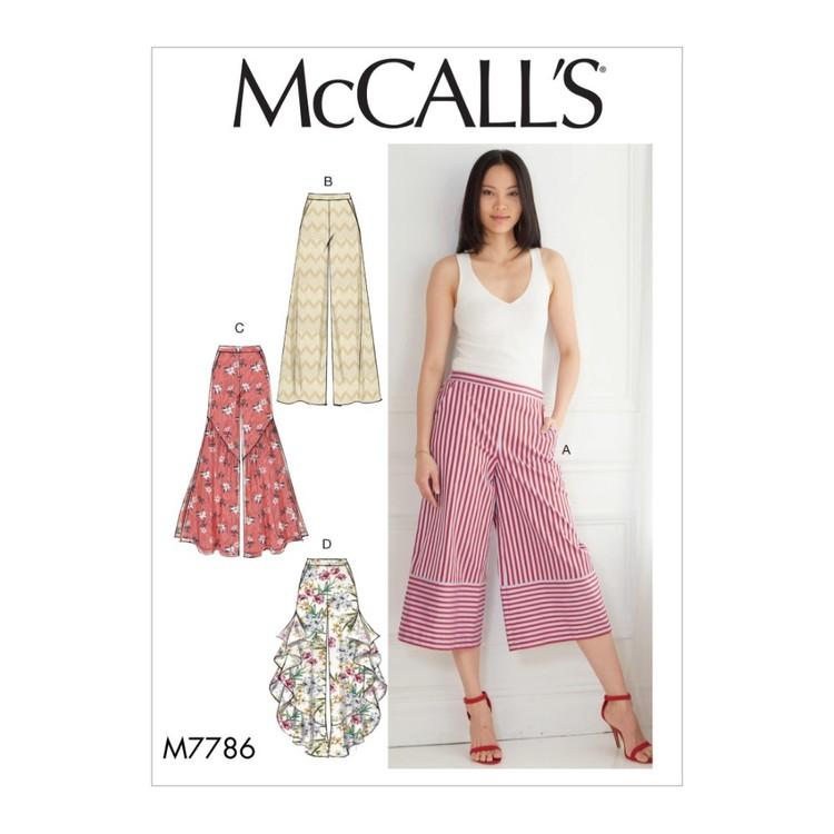 McCall's Pattern M7786 Misses' Pants