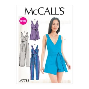 McCall's Pattern M7788 Misses' & Miss Petite Romper And Jumpsuit