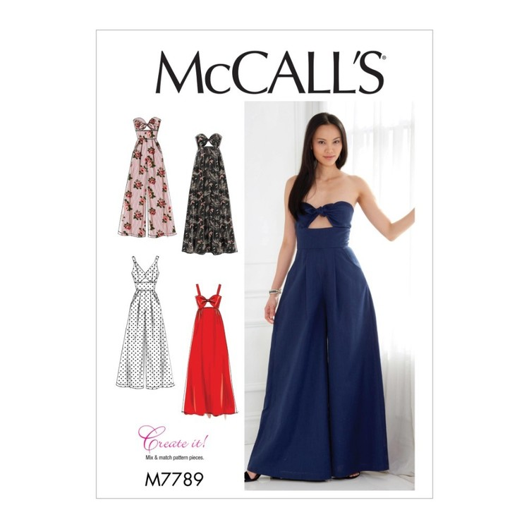 McCall's Pattern M7789 Create It! Misses' Dresses And Jumpsuits