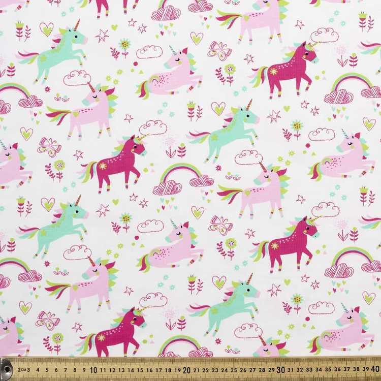 Unicorn Printed Cotton Spandex Fabric