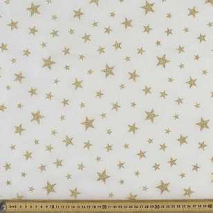 Glitter Star Organza Fabric