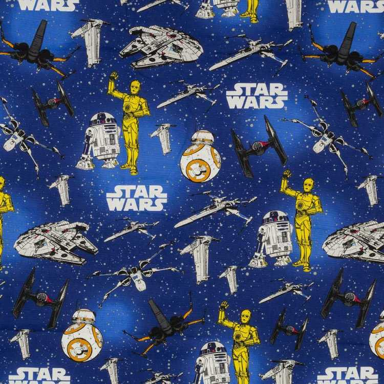 Disney Star Wars Spaceship Curtain Fabric