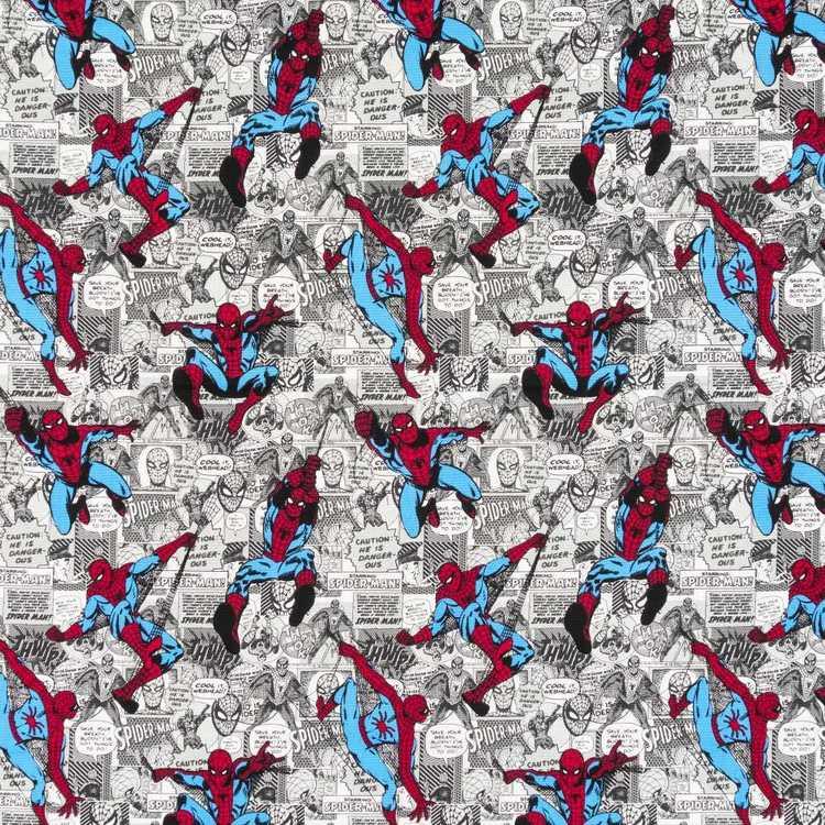 DC Comics Spiderman Comic Strip Curtain Fabric