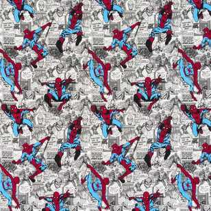 DC Comics Spiderman Comic Strip Curtain Fabric