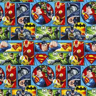 DC Comics Justice League Comic Strip Curtain Fabric
