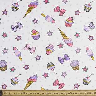 Bows and Cupcakes Curtain Fabric