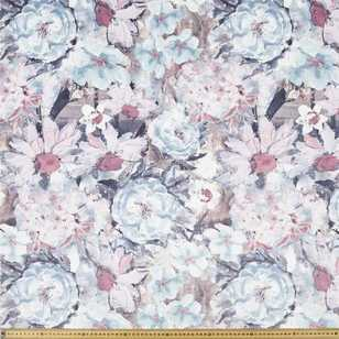 Painted Floral Velvet Upholstery Fabric