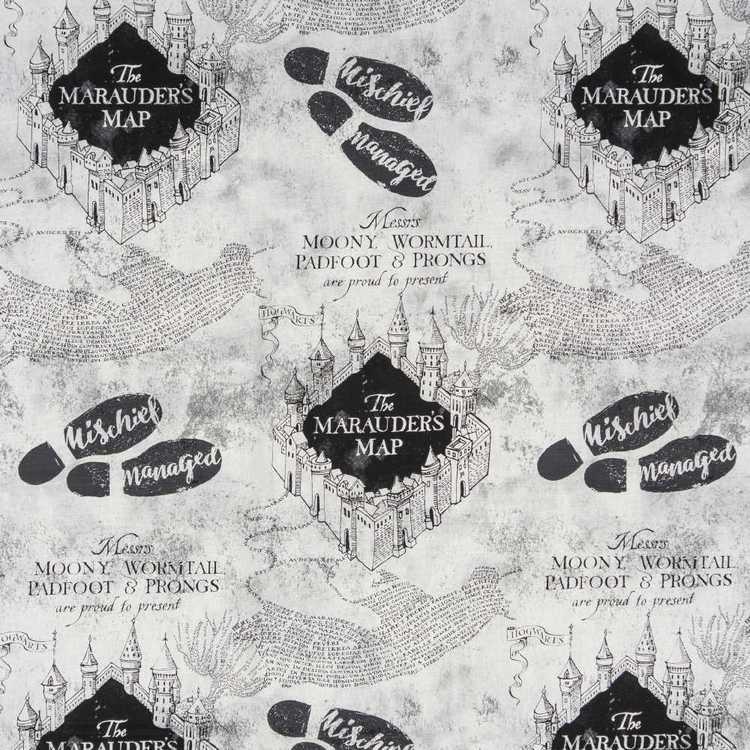 Harry Potter Marauder's Map Furnishing Fabric