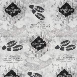 Harry Potter Marauder's Map Furnishing Fabric