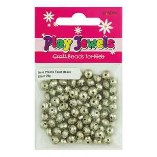 Play Jewels 8 mm Plastic Faceted Beads Pack