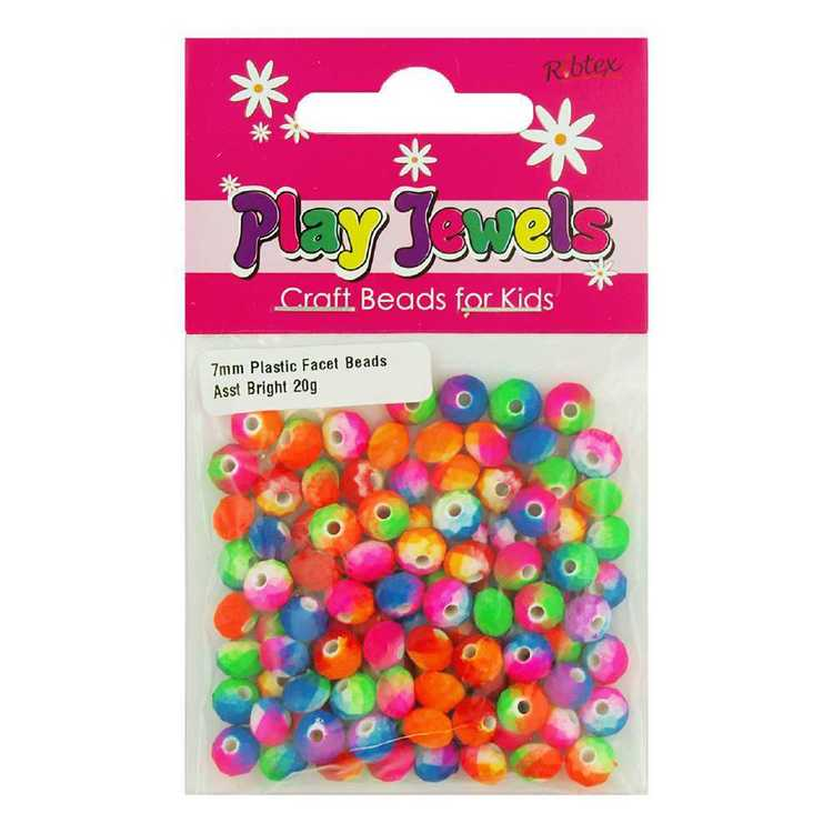 Play Jewels 7 mm Plastic Faceted Beads Pack