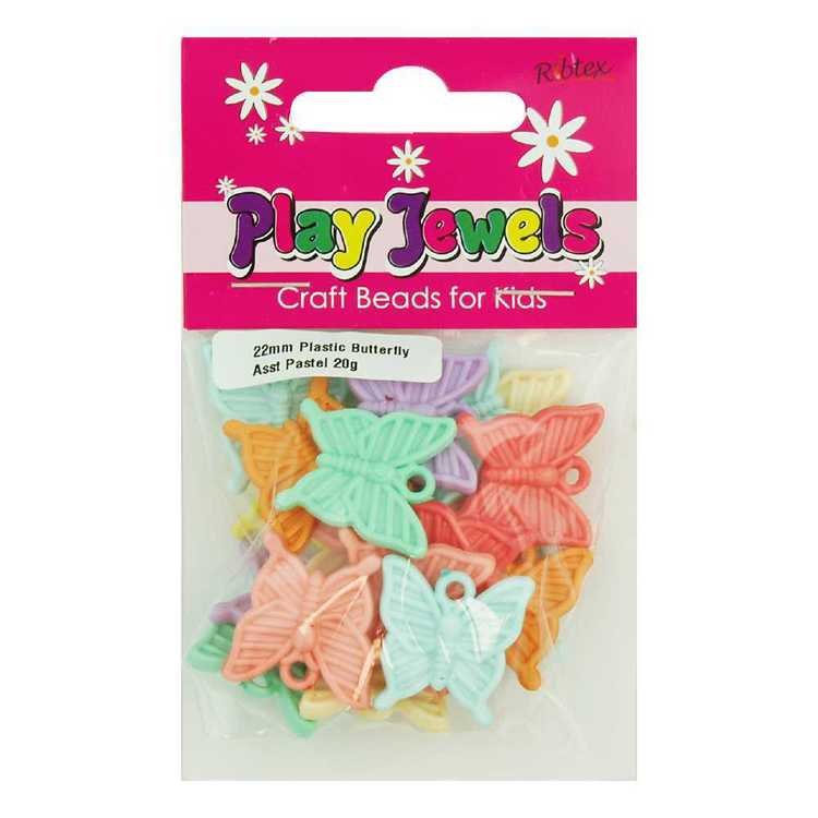 Play Jewels Plastic Butterfly Charms Pack