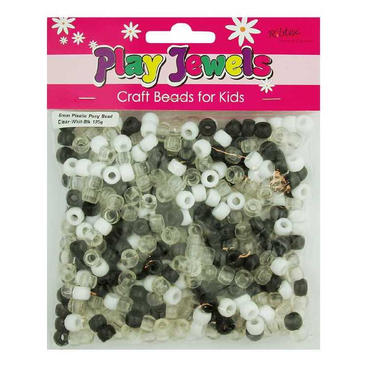 Play Jewels Plastic Pony Beads Value Pack