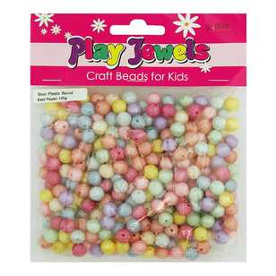 Play Jewels Textured Round Plastic Beads Value Pack