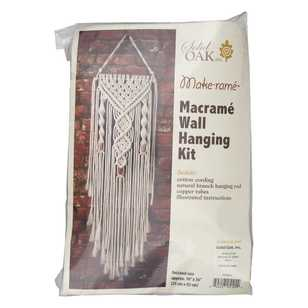 Solid Oak Spiral Macrame Wall Hanging Kit