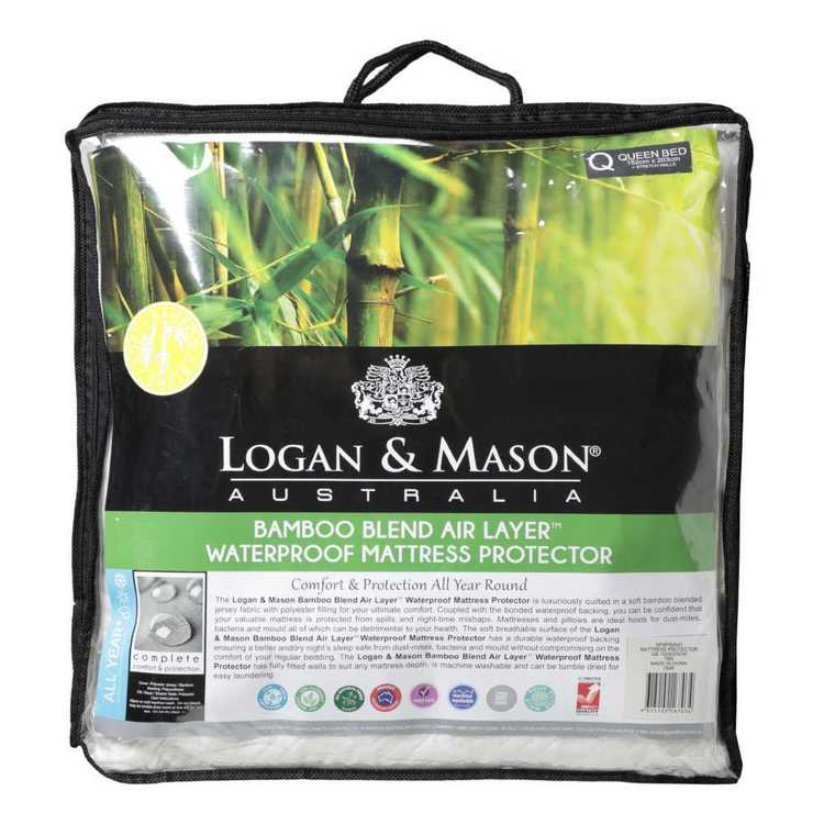 Logan & Mason Bamboo Blend Airlayer Mattress Protector