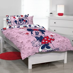 Disney Minnie Mouse Lovable Quilt Cover Set