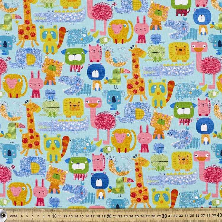 Animal Party Buzoku Cotton Duck Fabric