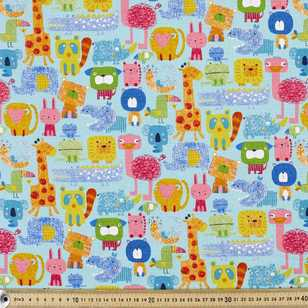Animal Party Buzoku Cotton Duck Fabric