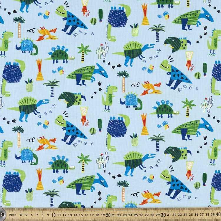 Dinosaurs Printed Buzoku Cotton Duck Fabric