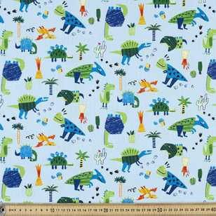 Dinosaurs Printed Buzoku Cotton Duck Fabric