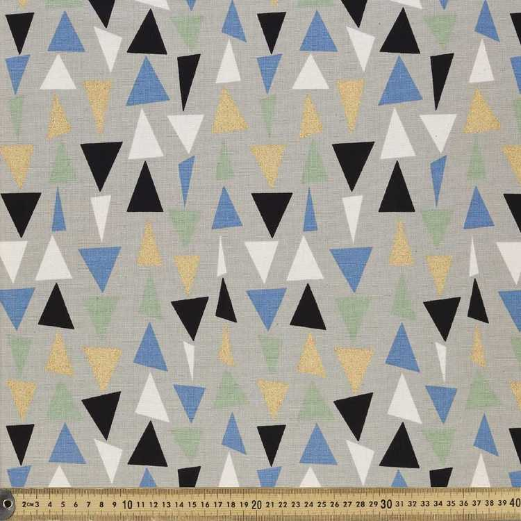 Triangles Printed Buzoku Cotton Duck Fabric