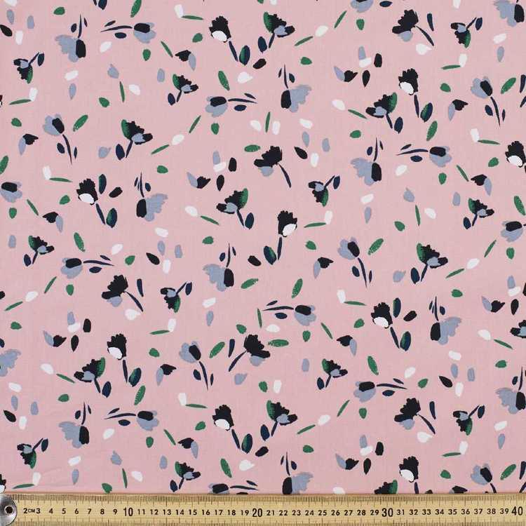 Flower Fall Printed Japanese Poplin Fabric