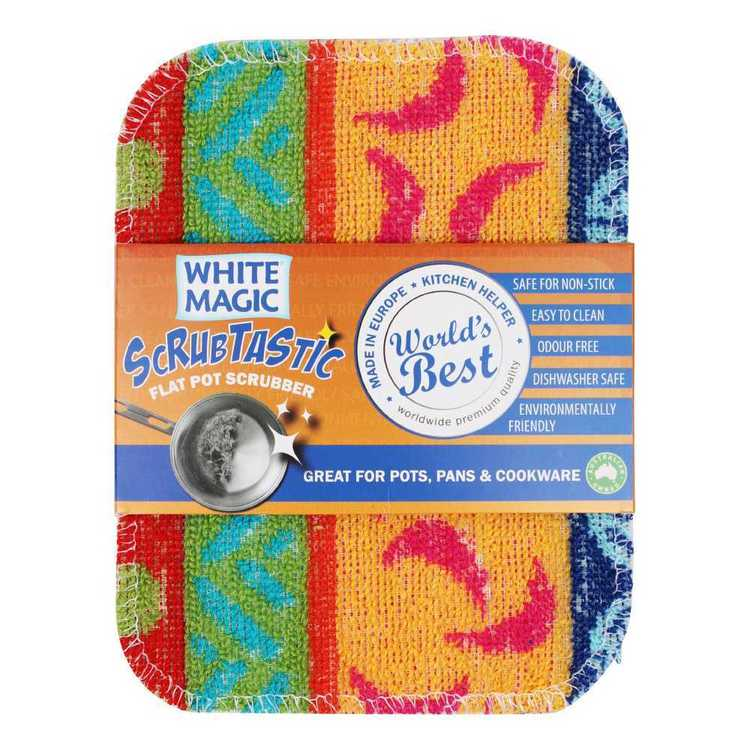 White Magic Scrubtastic Scrubber Multicoloured 12.5 x 16.5 cm