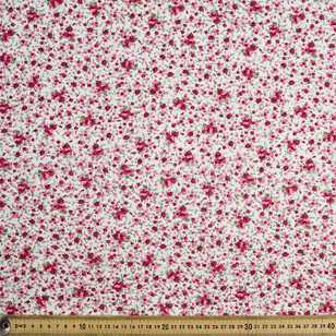 Floral Bouquet Small Roses Cotton Fabric