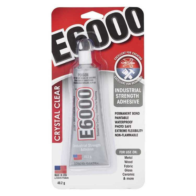 E6000 Crystal Clear Glue Tube