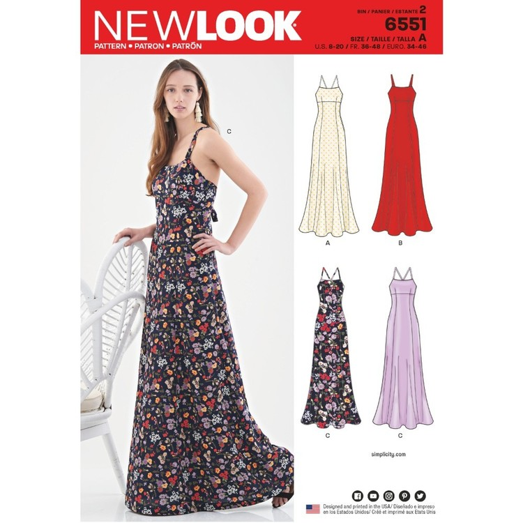 New Look Pattern 6551 Misses' Gowns