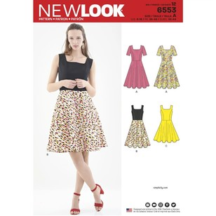 New Look Pattern 6553 Misses' Dress In Two Lengths