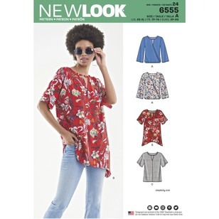 New Look Pattern 6555 Misses' Keyhole Shirt