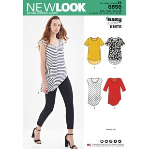 New Look Pattern 6556 Misses' Easy Knit Tops