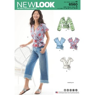 New Look Pattern 6560 Misses' Wrap Tops