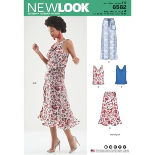 New Look Pattern 6562 Misses' Top, Skirt And Pants