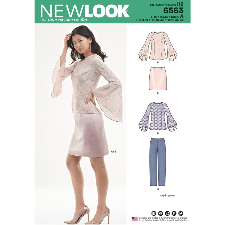 New Look Pattern 6563 Misses' Sportswear