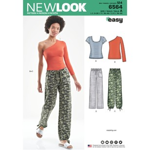 New Look Pattern 6564 Misses' Pants And Knit Tops