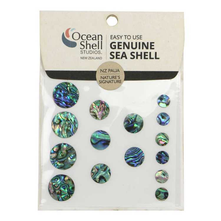 Shell Paua Circles Veneer Stickers