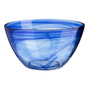Casa Domani Cirrus Twilight Blue Glass Salad Bowl