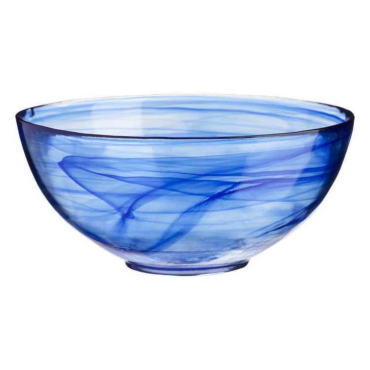 Casa Domani Cirrus Twilight Blue Glass Serving Bowl