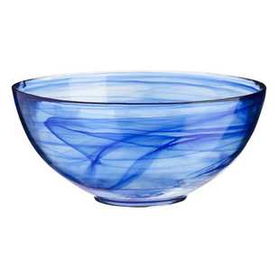 Casa Domani Cirrus Twilight Blue Glass Serving Bowl