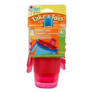Take & Toss Pack of 4 Spill-Proof Sippy Cup Handle