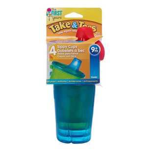 Take & Toss Pack of 4 Spill-Proof Cups