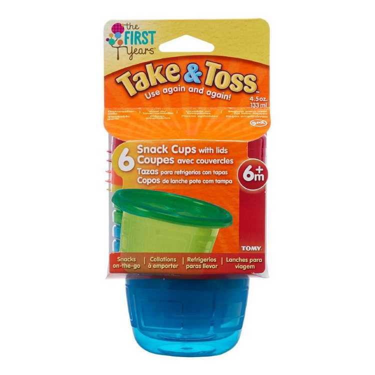 Take & Toss Pack of 6 Snack Cups