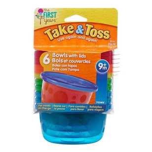 Take & Toss Pack of 6 Bowls With Lids