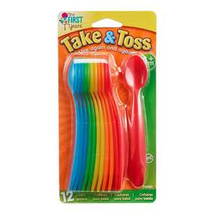 Take & Toss Pack of 12 Infant Spoons