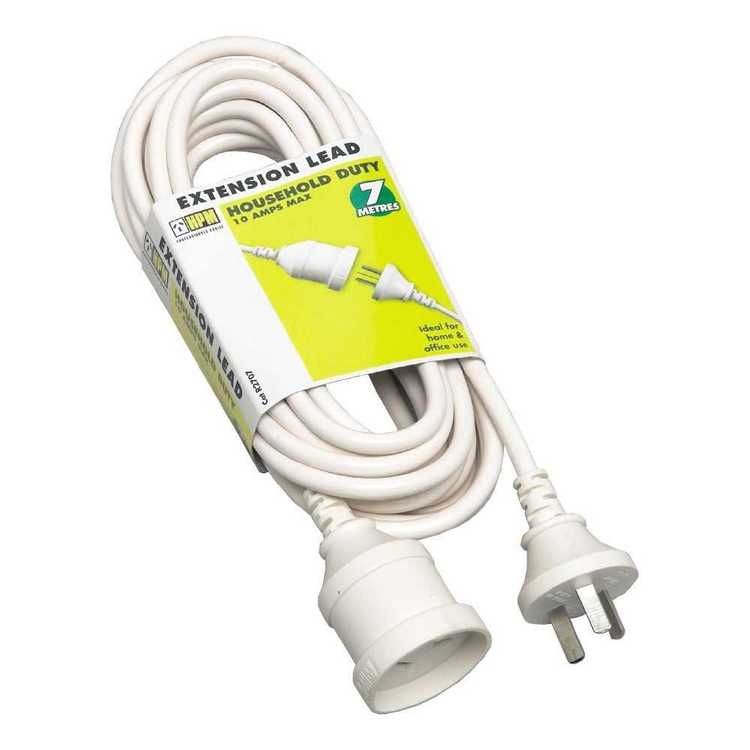 HPM Household Duty Extension Lead White 7 m